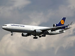 Photo of a Lufthansa cargo plane