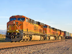 Photo of a BNSF train